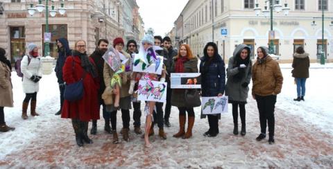 HLP: Mondj nemet az erőszakra! Flashmob